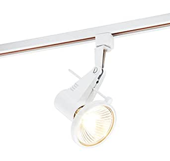 Saxby 3PTR122W - Partran 75W Mains Voltage Halogen Track & Spot Single Circuit - Gloss White Paint