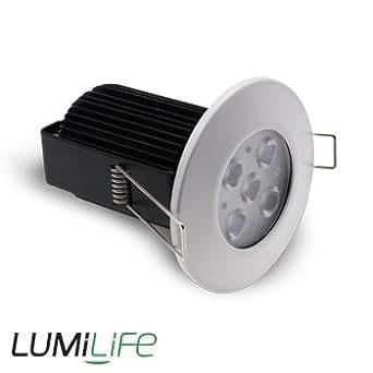 Lumilife Kit Plafonnier LED encastrable 12 watts (équiv. 100w) - Étanche IP65 - Blanc Froid