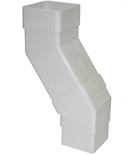 FLOPLAST 65mm Square Downpipe Adjustable Offset Bend - White by FloPlast - Offset-drain