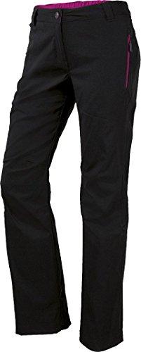 CRIVIT® Damen Trekkinghose imprägniert mit BIONIC FINISH ECO® (Gr. 40, schwarz/pink)