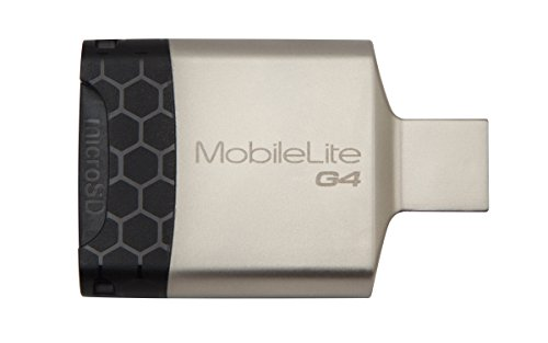 Kingston Technology MobileLite G4 Micro-SDXC, USB 3.0, Nero/Grigio