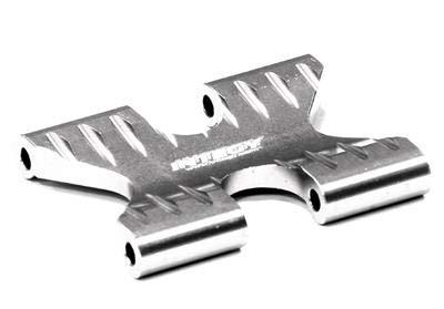 Integy RC Model Hop-ups T5015SILVER Billet Machined Alloy Gear Box Brace for HPI 1/12 Savage XS Flux -