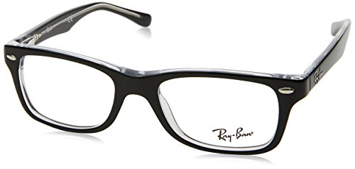 Ray-Ban Unisex - Erwachsene Brillengestell RY1531, Schwarz (Top Black On Transparent),