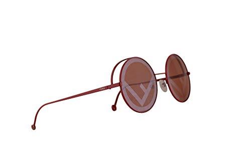Fendi FF0343/S Sonnenbrille Rot Mit Roten Gläsern 53mm C9A0L FF0343S FF 0343/S