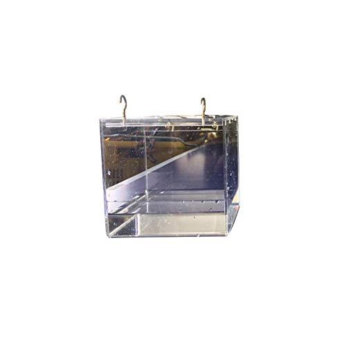 tingtin Haustier-Vogel-Badkäfig, transparentes Papageien-Badehaus mit hängenden Hakenhaustierversorgungen