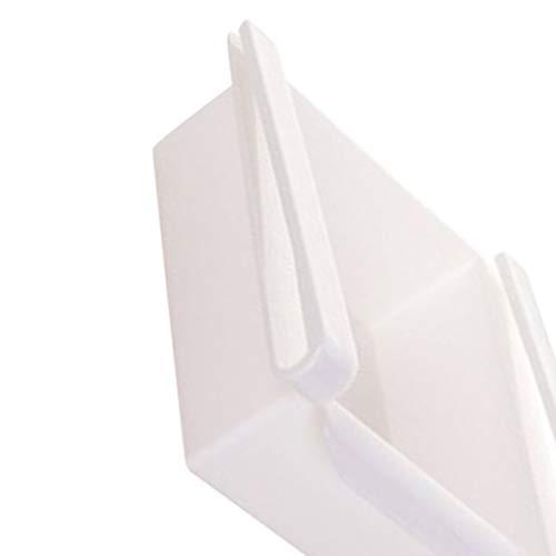 Weiß 7 Schublade (Busirde 2ST Kunststoff Küche Kühlschrank Gefrierschrank Raum-Retter-Organisator-Speicher-Zahnstangen-Regal-Halter Schublade Weiß 15.5 * 16.5 * 7cm)