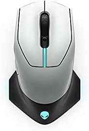 Alienware Wired/Wireless Gaming Mouse AW610M: 16000 DPI Optical Sensor - 350 Hour Rechargeable Battery Life -