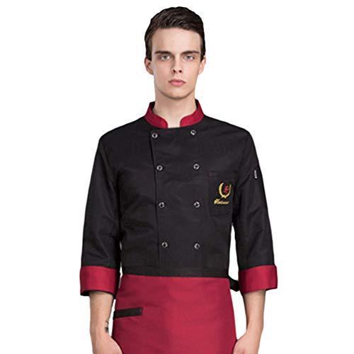 Dooxii unisex donna uomo autunno manica lunga giacca da chef traspirante professionale torta di cottura hotel mensa uniformi divise da cuoco