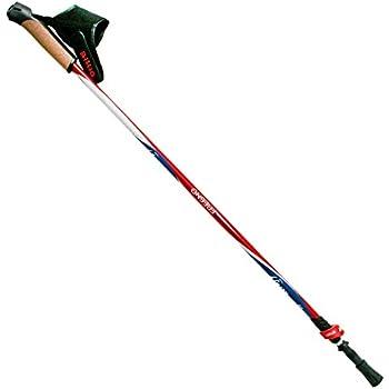 S.M.J Negro One Size Sport Adultos Teles Coping Nordic Walking Poles Long Life Black Senderismo Bastones