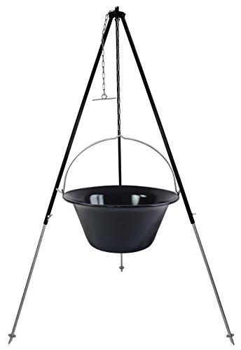 30l Gulaschkessel mit Dreibein 1,8 m Kettenhöhenverstellung - 30 Liter Kesselgulasch Gulaschtopf Set