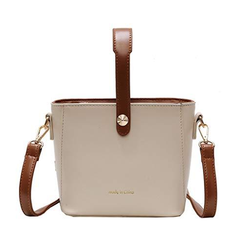 Mitlfuny handbemalte Ledertasche, Schultertasche, Geschenk, Handgefertigte Tasche,Damenmode Pure-color Slant Bag Einzelner Schulterbeutel Geldbeutel Kuriertasche