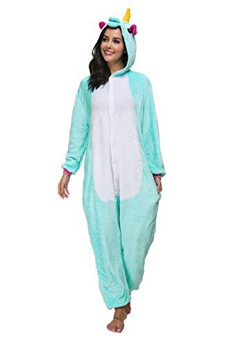 Mescara Einhorn Kostüm Pyjama Jumpsuit Cosplay Schalfanzug Festliche -