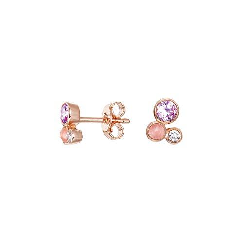 Esprit Damen-Set: 1 Paar Ohrstecker Sterling Silber  Rotgold  Zirkonia sweet parfait ESER92705B000