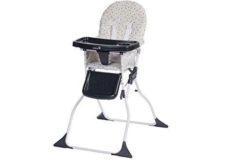 Safety 1st Chaise Haute Keeny Compacte et Pliable, Nettoyage Facile Grey Patches