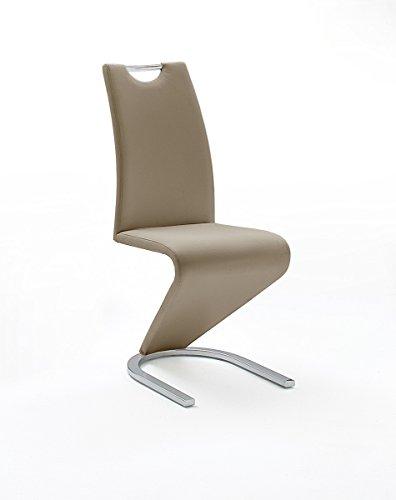 Mister-Meubles Chaise de salle à manger Design LYDIA coloris cappuccino (Lot de 2)