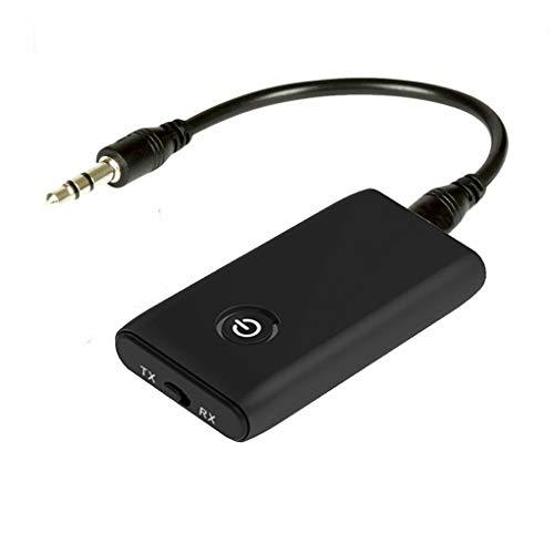 Pandiki 2 in 1 Bluetooth 5.0 Trasmettitore Ricevitore TV PC Altoparlante dell'automobile 3.5mm Stereo Audio Adapter Musica