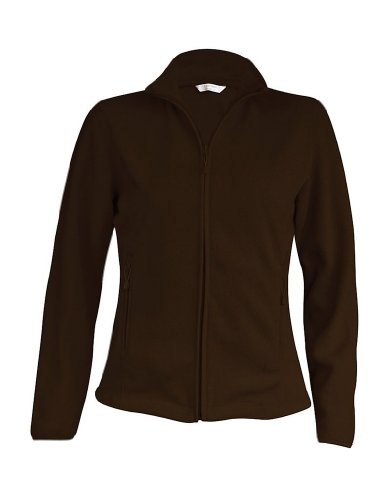Ladies Fleece Jacke Maureen Dark Chocolate