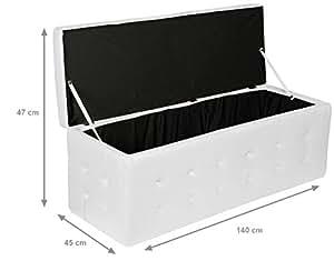 Panca Contenitore Ecopelle : Esidra cassapanca ecopelle pouf contenitore moderno panca
