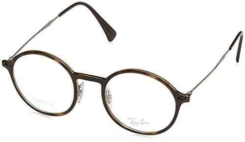 Ray-Ban Unisex-Erwachsene Brillengestell RX7087, Schwarz (Negro), 46