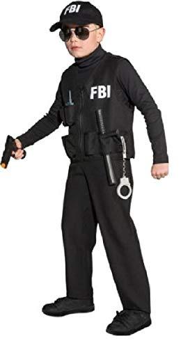 narrenkiste O5323-140-152 schwarz FBI Weste Polizeiweste Gr.140-152 (Fbi Kostüm Mädchen)