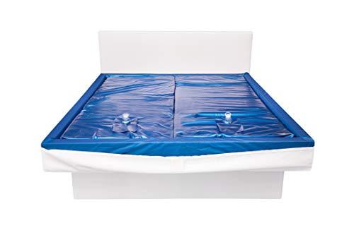 Aqua Sense 2X Wasserkern inkl. Liner/Schutzfolie + 2X cond. - ersatzset für Wasserbett/Wasserbettmatratze Größe - 180 x 200 cm Dual - Softside: Innen keilförmig 20-23 cm - Beruhigung 120%