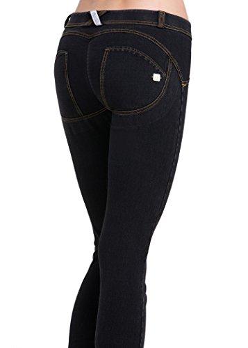 Cody Lundin Damen Mode Multi Color im freien Stil Freizeithosen bequem Strecken dünn Jean Schwarz