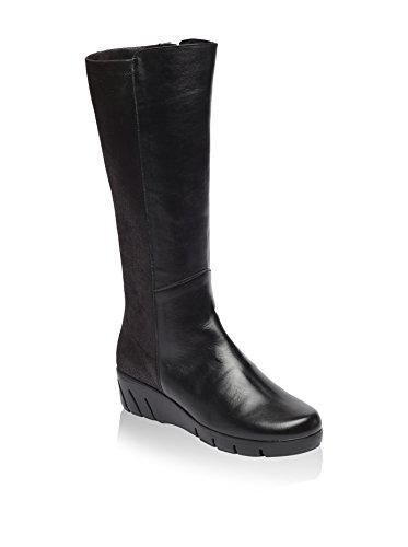 Uma B0156IV Keilstiefel Leder schwarz, Groesse:39.0