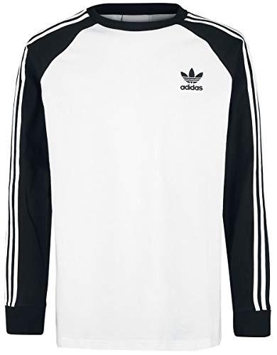Adidas 3-Stripes T-Shirt Homme, Blanc, Noir, FR (Taille Fabricant : XL)