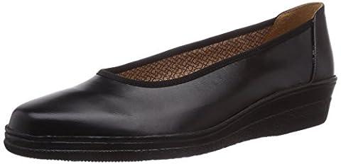 Gabor, Women's, Piquet, Closed Toe Ballet Flat, Black (Black Leather), 4 UK / 37 EU