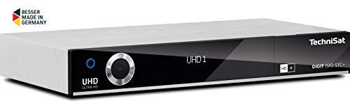 TechniSat Digit ISIO STC+ UHD Receiver (mit Twin Tuner, Sat DVB-S/DVB-S2, Kabel DVB-C, DVB-T2 HD, Smart TV, App Steuerung, PVR Aufnahmefunktion, WLAN, LAN, CI+, USB 3.0, 6 Monate HD+) silber