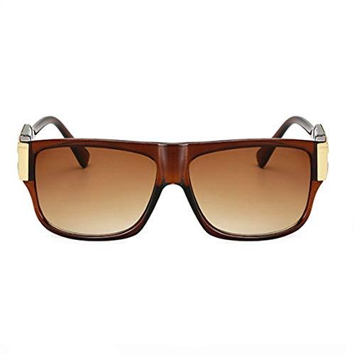 ZHAOSHUNAN Sonnenbrillen Sonnenbrille Männlich Sonnenbrille Männlich Promi Brille Weiblich Großen Rahmen Brille Zubehör, E