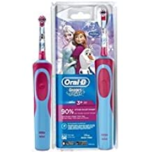 Oral-B Disney Frozen Niño Cepillo dental oscilante Azul, Rosa - Cepillo de dientes eléctrico (Batería, Integrado, 1 pieza(s), 1 pieza(s))