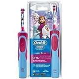 Oral-B Disney Frozen Cepillo de Dientes electrico, 0 W, 0 Decibeles, Azul, Rosa