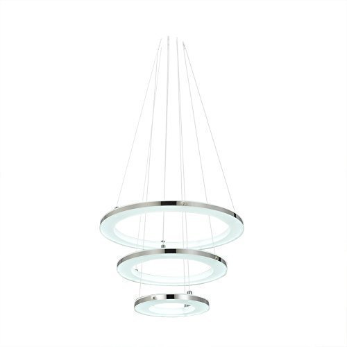 Moderno LED Acrilico Lampada A Sospensione Soffitto Luce con Armatura 3 Anello di 210 Lampadine Ideale per Decorazione Camera da letto Soggiorno Sala Da Pranzo Foyers - Bianco