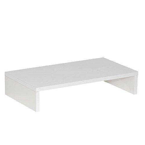CARO-Möbel Monitorständer MONITOR Schreibtischaufsatz Bildschirmerhöhung in weiß 50 x 10 x 27 cm (B x H x T) - 3