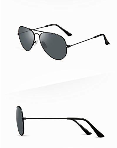 GJMB Sonnenbrille, die Brillenfahrerspiegel fährt, polarisierte weibliche Sonnenbrille-Black