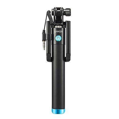 Anker Selfie Stick, Verstellbare Selfie-Stange, ohne Akku, mit Kabel, für iPhone 6s/6/5, Galaxy, Nexus und viele mehr, in Schwarz - 2