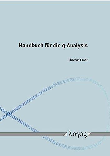 Handbuch für die q-Analysis
