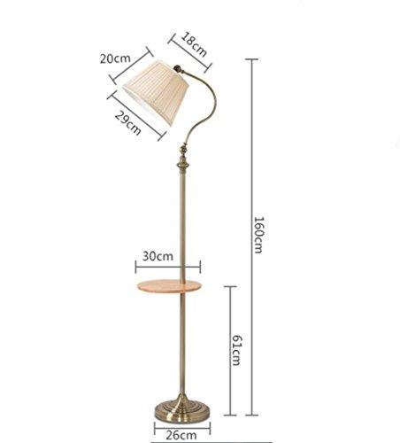 Lettura Torchiere Lampada da terra paralume del tessuto da caffè in legno tavolo in ferro (Lampade Inoltre Legno Lampada Da Tavolo)