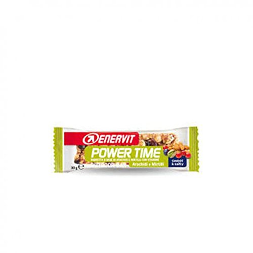 ENERVIT Power Time Outdoor Bar barrette a base di Arachidi e Mirtilli 30 g
