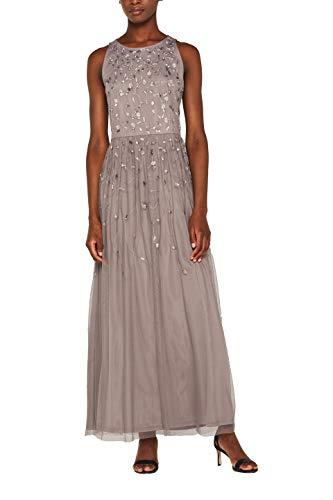 ESPRIT Collection Damen 029EO1E014 Kleid, Grau (Grey 030), Medium (Herstellergröße: M) - Medium Grey Collection