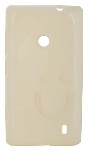 iCandy™ Imported Quality Soft TPU Smiley Back Cover For Nokia Lumia 520 / Lumia 525 - White  available at amazon for Rs.160