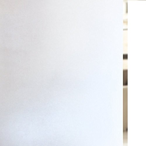 Rabbitgoo Vinilo Ventana Vinilos Decorativos para Puertas de Cristal Vinilo de Privacidad con Electricidad Estática Sin Pegamento Blanco Vinilo para Baño,Oficina, Sala de Reuniones, Sala de Estar, 44.5*200cm