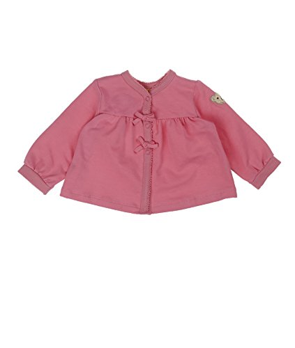 Steiff Baby - Mädchen (0-24 Monate) Jacke 1/1 Arm 6512113, Einfarbig, Gr. 62, rosa (morning glory rose 2998) Jacke