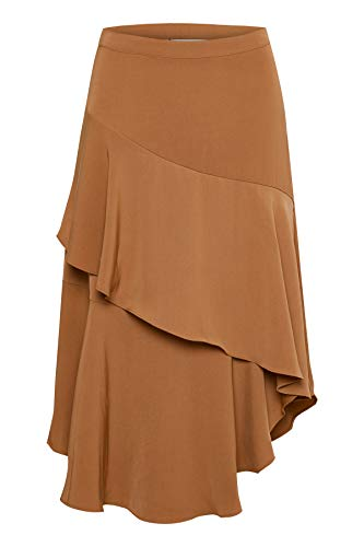 GESTUZ Damen Kleid Rubina Skirt Braun (Russet 90540) 40