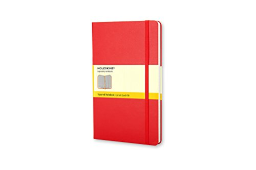 Red squared, large notebook