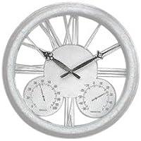 Horloge d'extérieur Classique Blanche Antique – 32cm