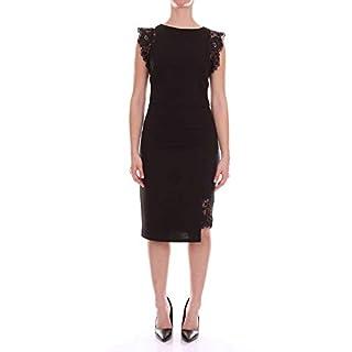 ANGELEYE Damen Trinityblack Schwarz Baumwolle Kleid