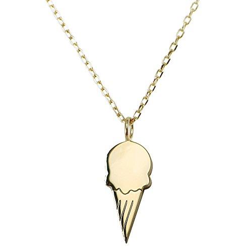Gold Eis (JO & JUDY Eis Halskette Gold - Süßer Motiv-Anhänger aus vergoldetem 925 Sterlingsilber an 46 cm vergoldeter 925 Sterlingsilber Kette - Accessoire Schmuck)