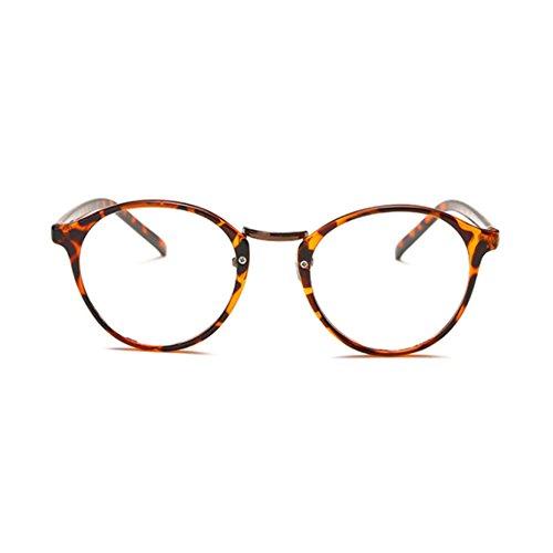 1920s Nerd Brille filigran rund Glasses Klarglas Hornbrille treber CASW0077 Tiger Skin